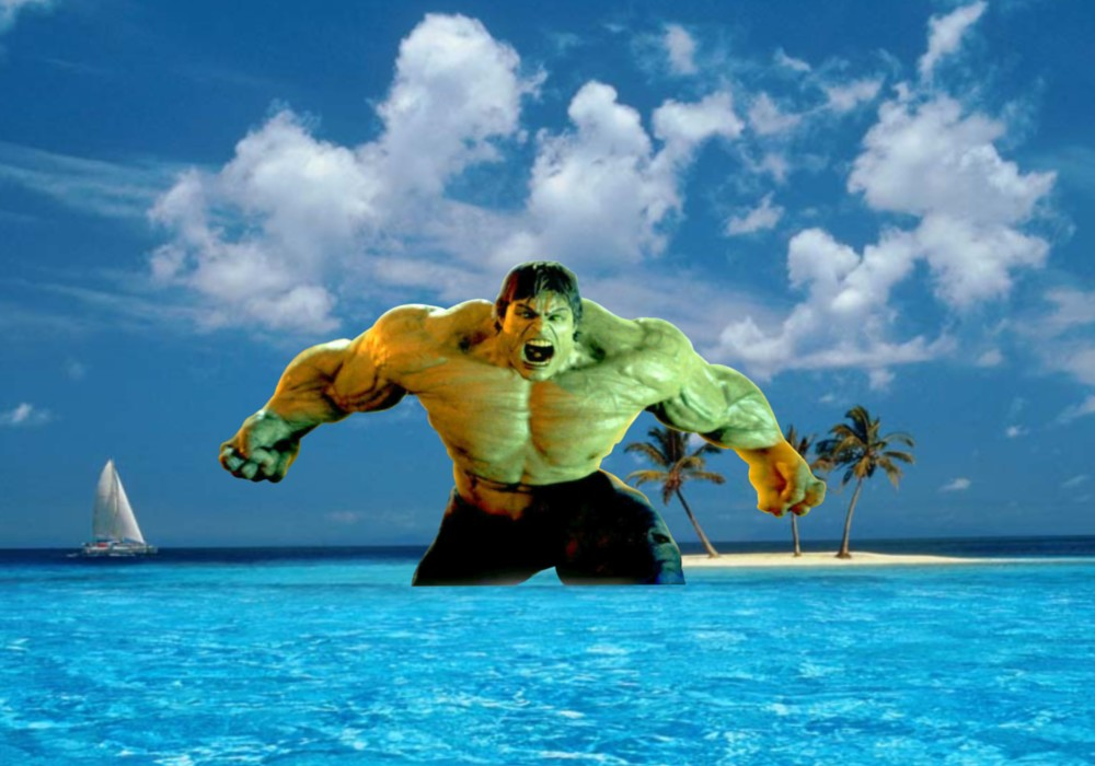 Hulk Wallpapers Incredible Raging Fury in Blue Island background 1000x700