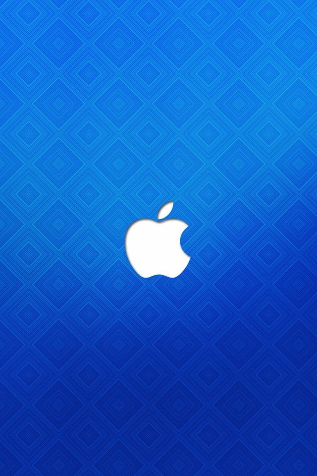 Blue Apple Wallpaper for iPhone 4 640x960