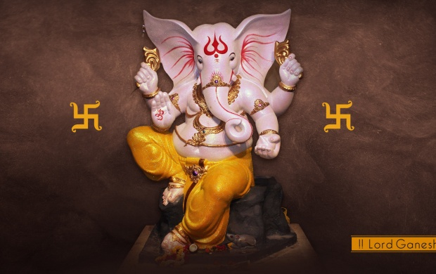 God Ganesha Stone Statue click to view 620x390