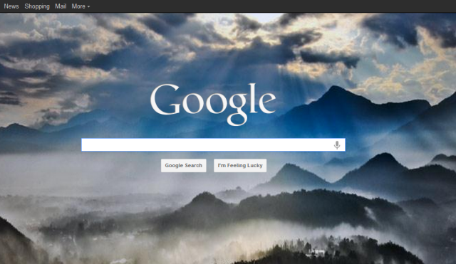 how to put google homepage