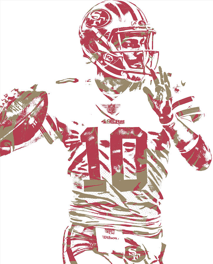 Jimmy Garoppolo San Francisco 49ers Pixel Art 1 Mixed Media by 725x900