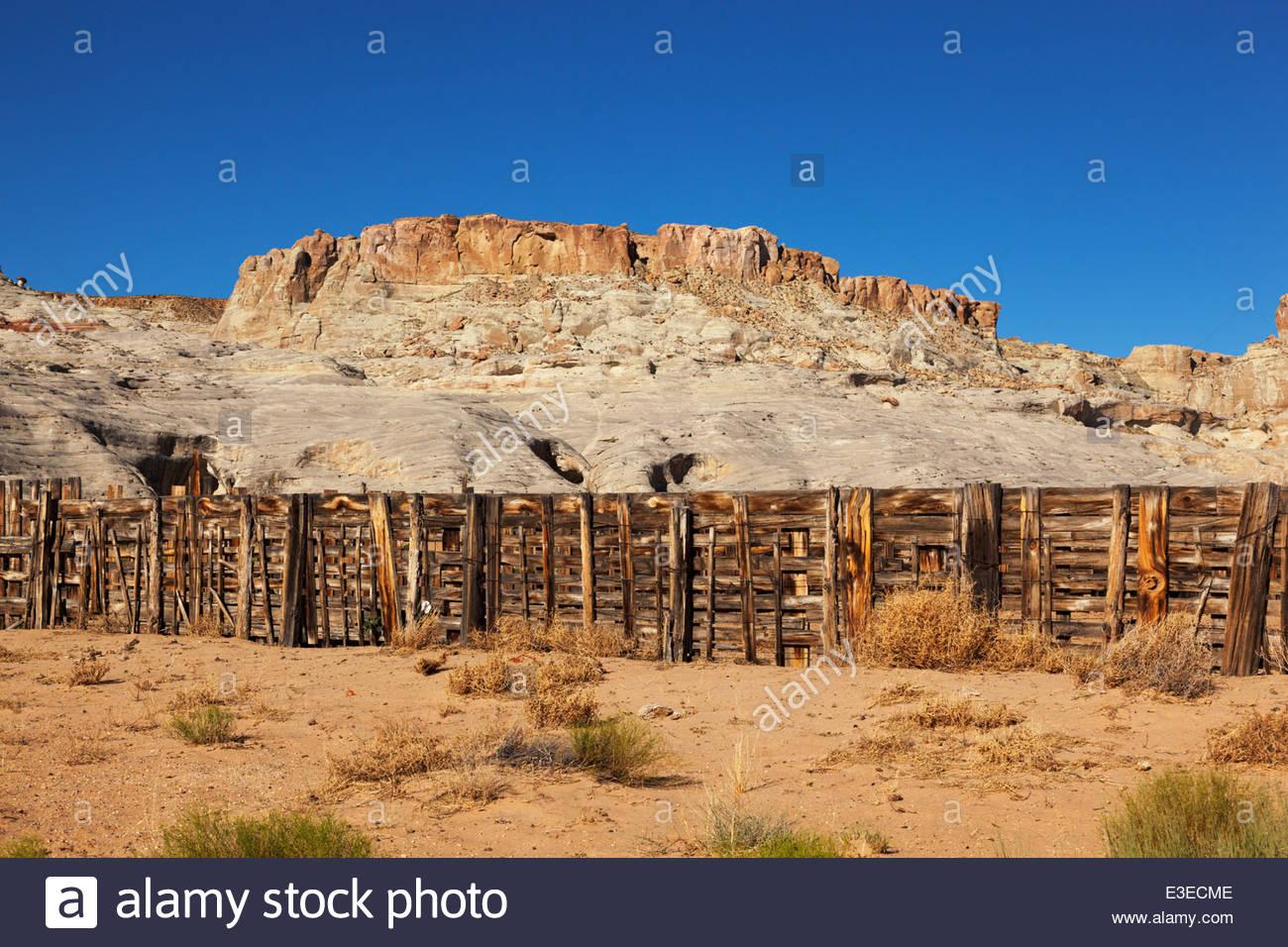 Wood Corral Sandstone Bluff in background northern Arizona Stock 1300x956