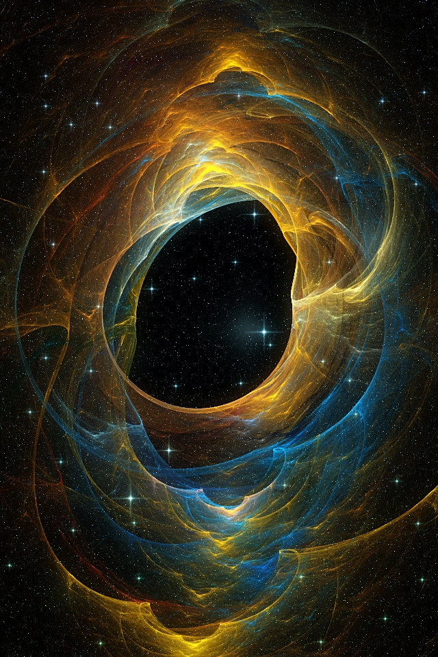 Blue and Gold Nebula iPhone wallpaper by elipsis01 on deviantART 640x960