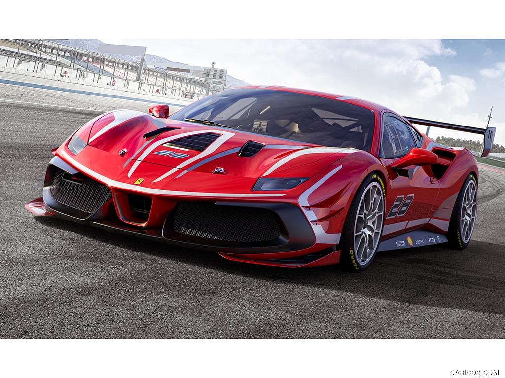 2020 Ferrari 488 Challenge Evo   Front Three Quarter Wallpaper 1024x768