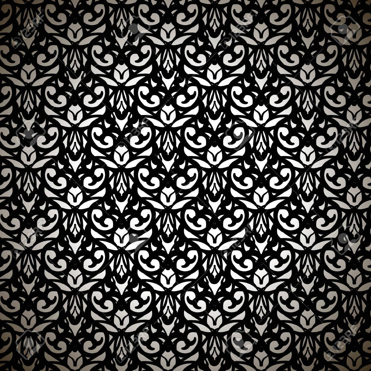 Sophisticated Black Forged Pattern On White Background Royalty 1300x1300