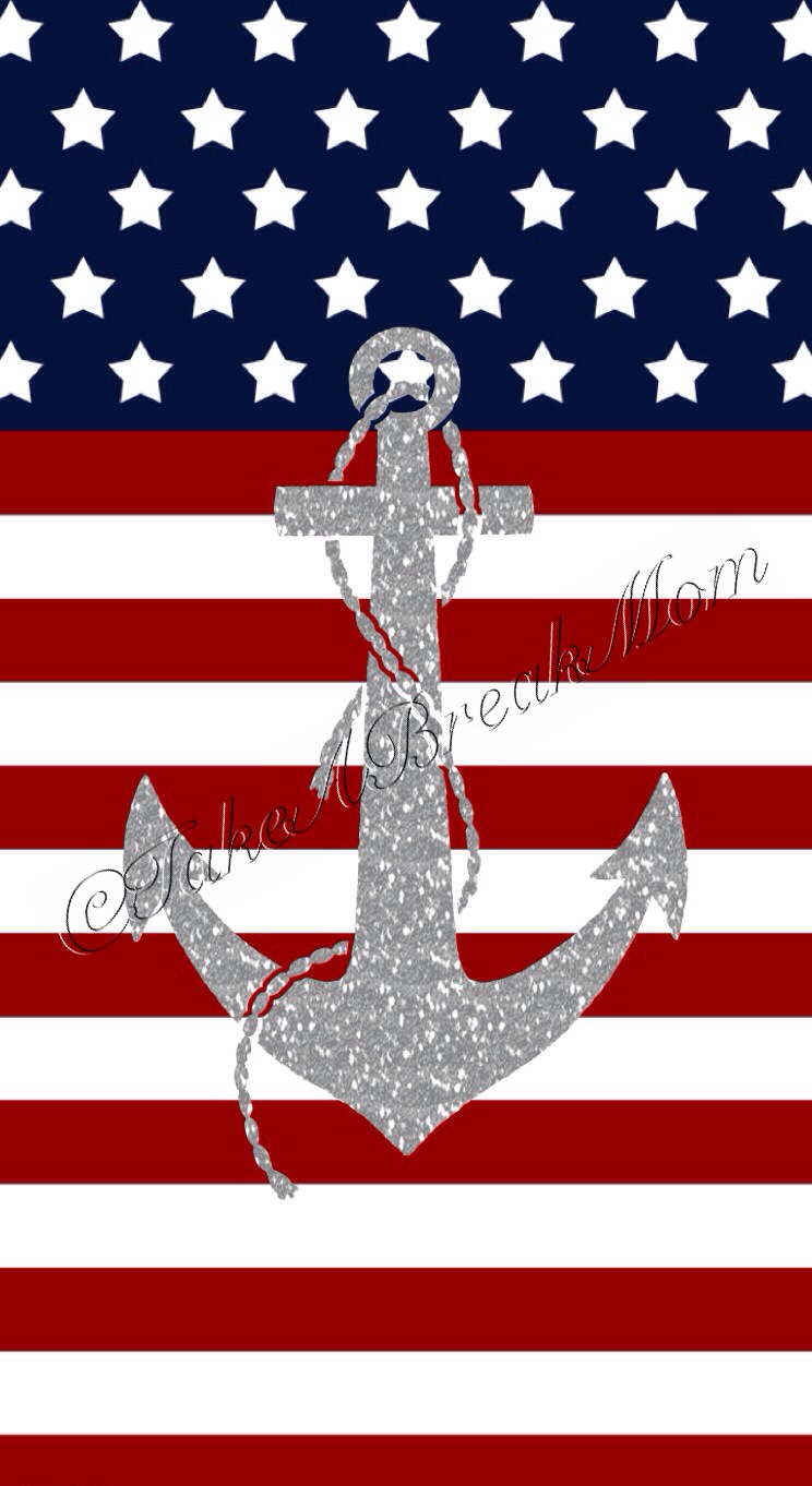 Cute Anchor Wallpapers   American Flag Anchor Hd Wallpapers 744x1362