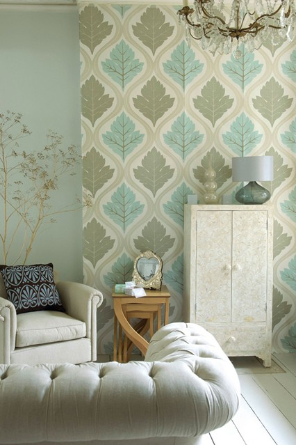 Wallpaper Feature Wall Ideas   Living Room Walls houseandgardencouk 426x639