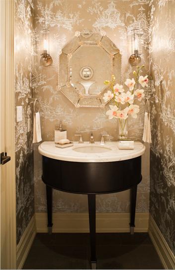 Metallic Wallpaper   Contemporary   bathroom   Artistic Designs for 352x542