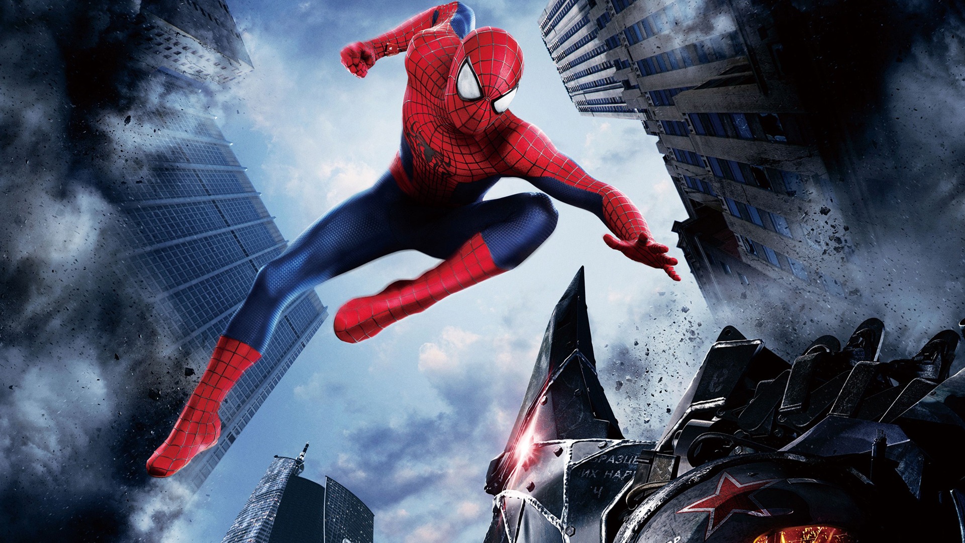 the amazing spider man vs rhino 2014 fighting movie hd 1920x1080