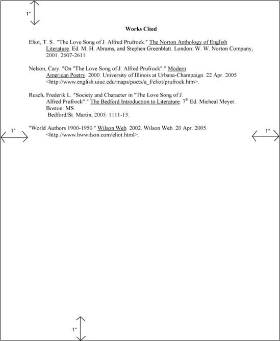 Quote Apa Format: 549x668px How To Cite The Yellow Wallpaper MLA
