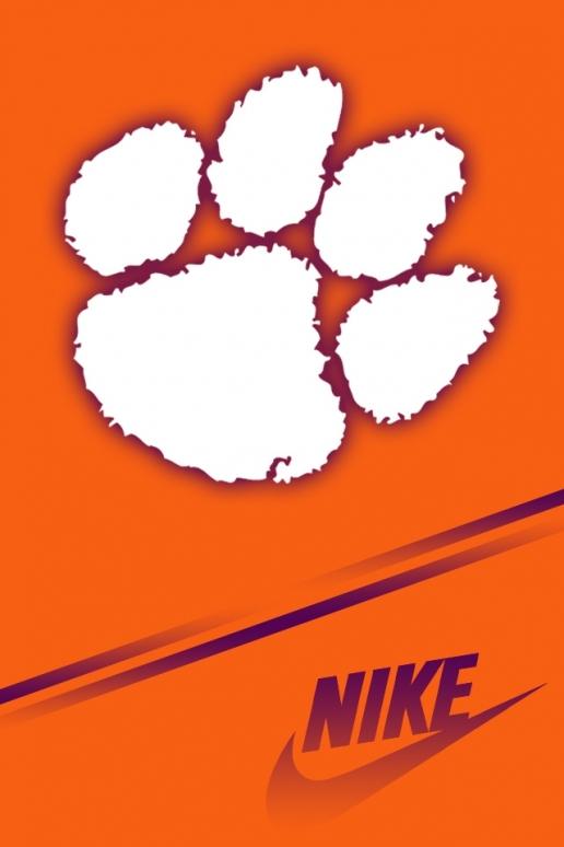 Nike Clemson Tigers iPhone HD Wallpaper 516x774
