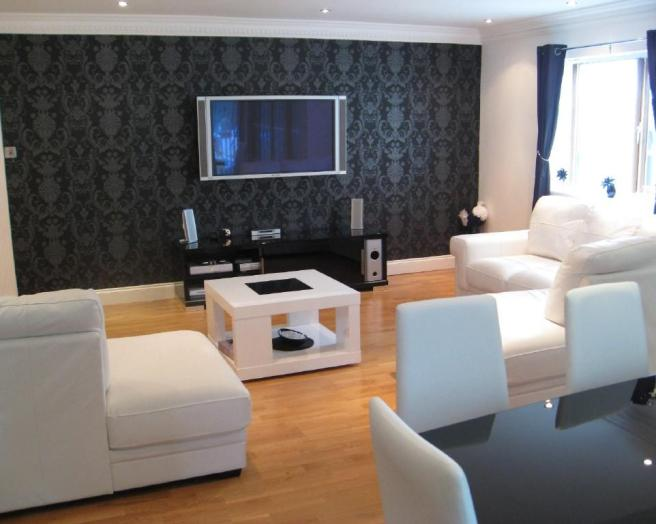 room white black lounge bedroom modern contemporary wallpaper pattern 656x524