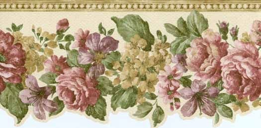 Mixed Flower Wallpaper Border   Wallpaper Border Wallpaper inccom 525x259