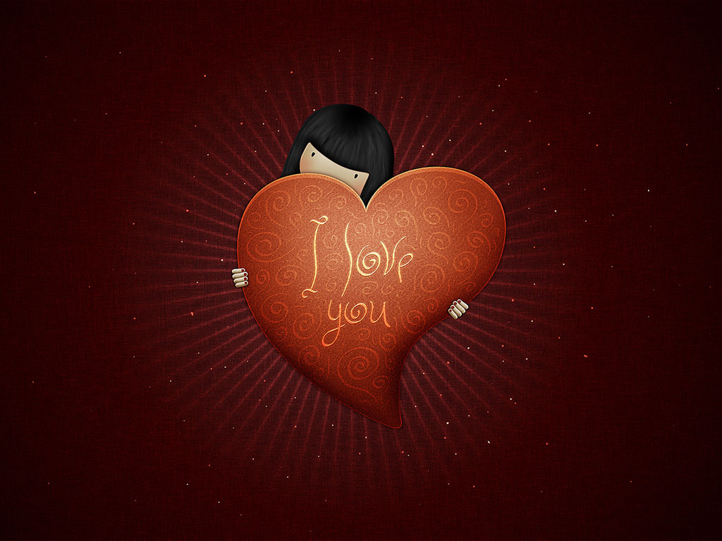 Cute Valentines Day Wallpapers for Valentines Day 2012 Celebration 1024x768