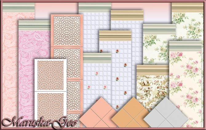Shabby Chic Kitchen Wallpaper Wallpapersafari