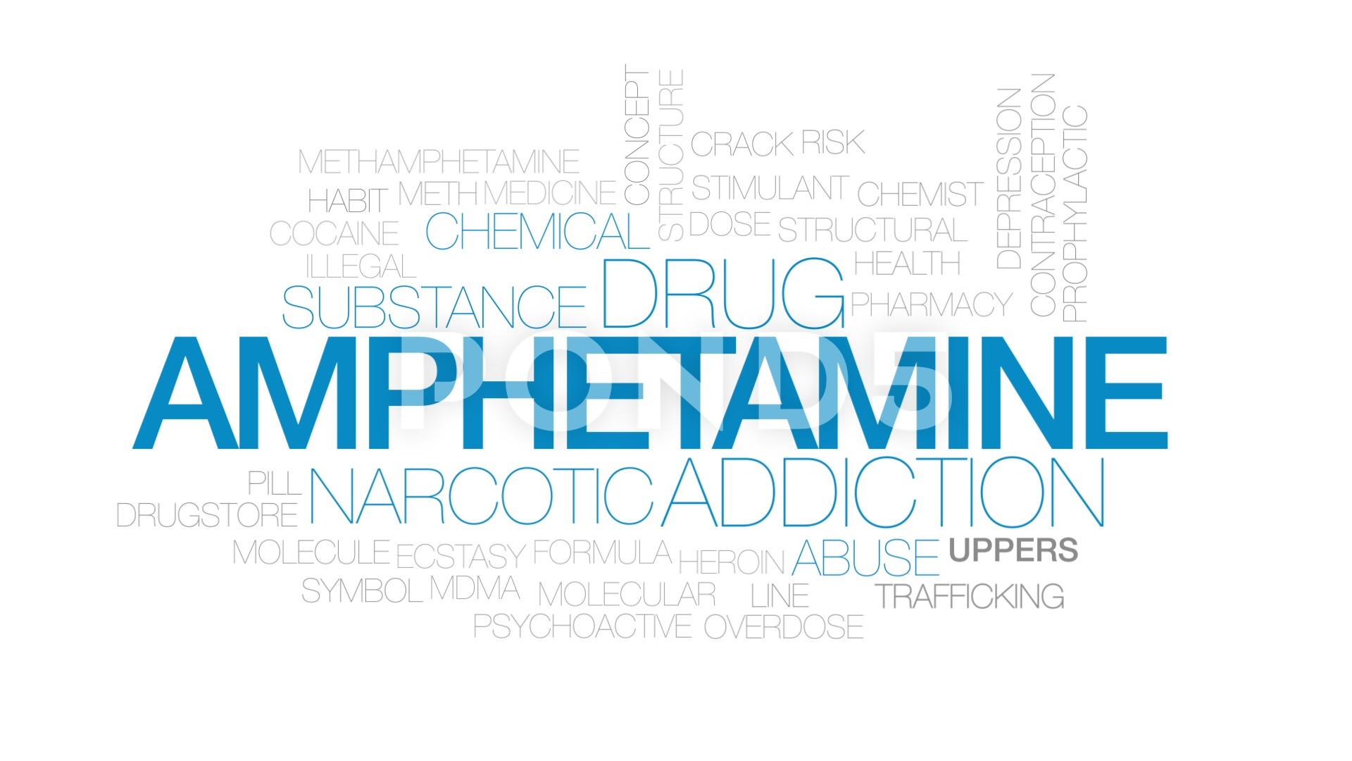 Amphetamine animated word cloud text design animation Kinetic 1920x1080