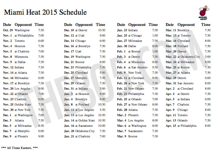 picture about Miami Heat Printable Schedule titled 47+] Miami Warmth 2015 Roster Wallpaper upon WallpaperSafari