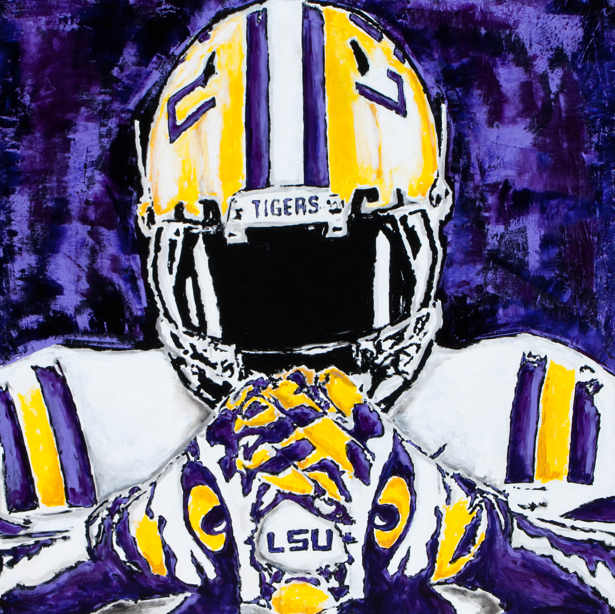 Lsu Football 2014 The lsu football giclee 2495x2491
