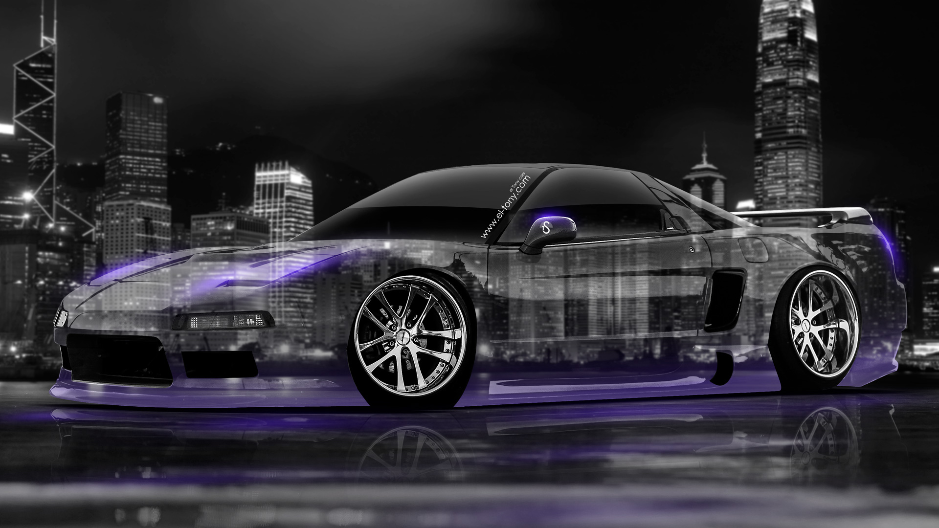 Lovely 1920x1080 Honda NSX JDM Crystal City Car 2014 Violet Neon HD Wallpapers  Design .