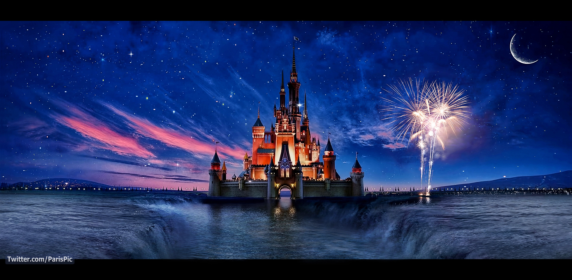 Disney Disneyland Castle California Edit Wallpaper ParisPic 1920x940