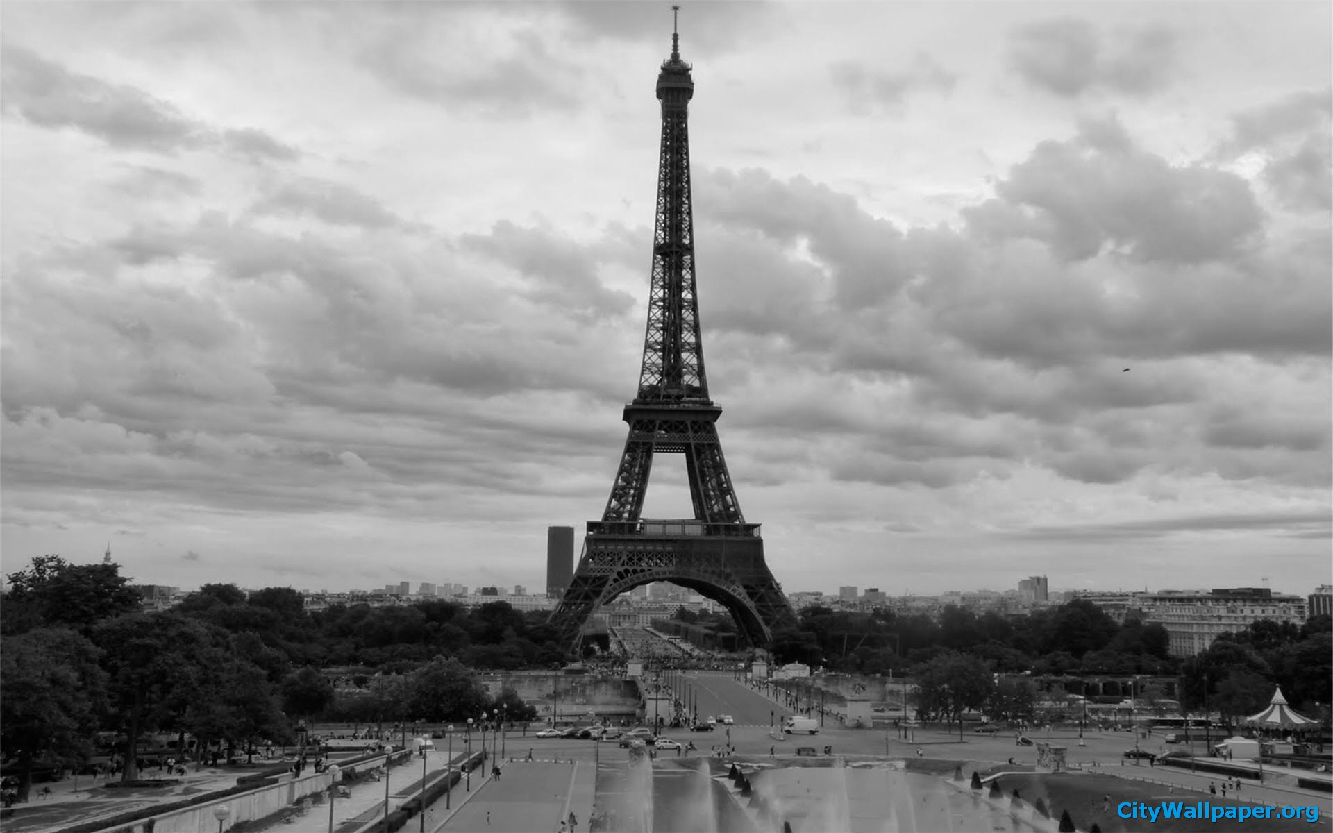 Paris Wallpaper Black and White - WallpaperSafari