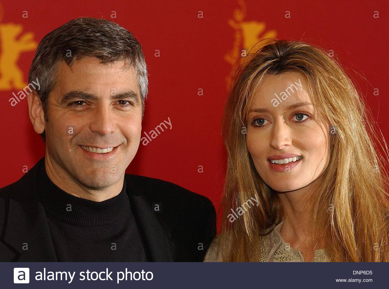 George Clooney and Natasha McElhone at the photocall of the Stock 1300x968