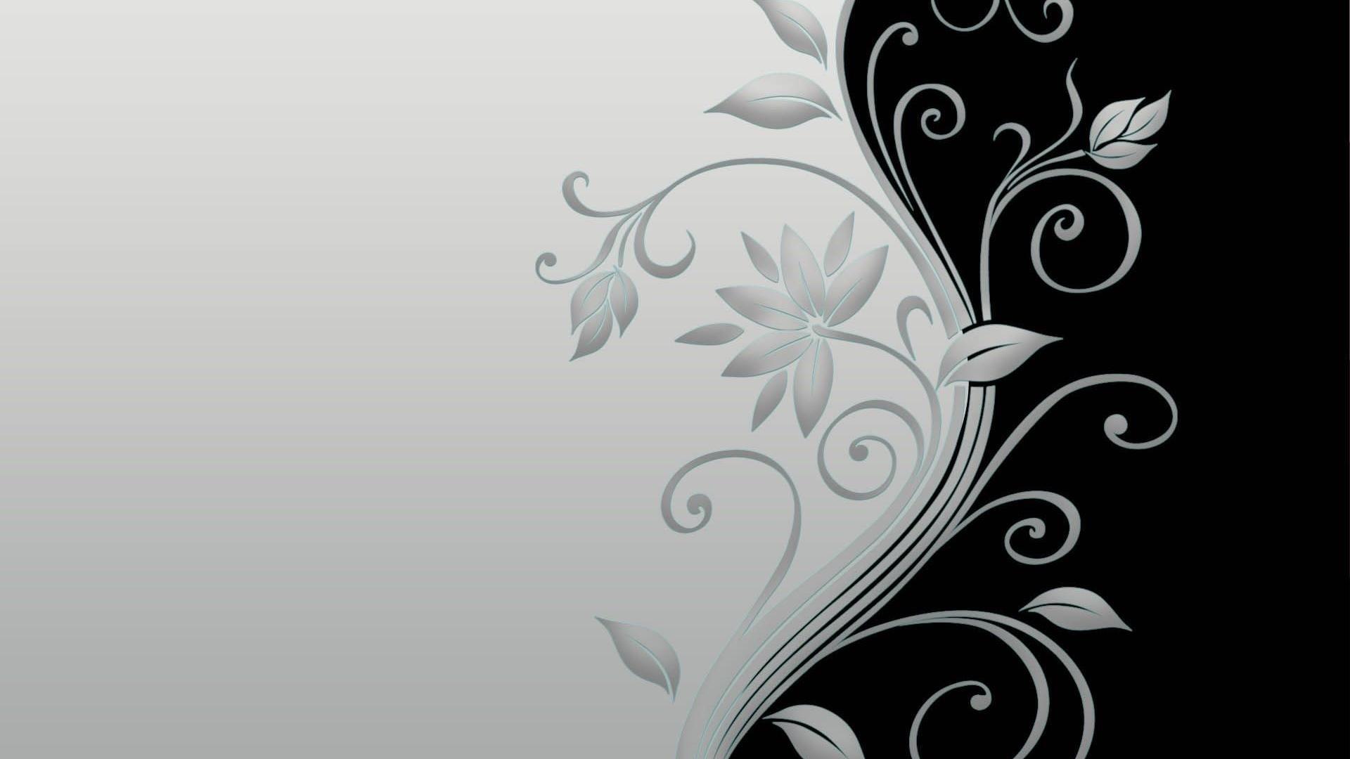 Flower Black and White HD Wallpaper Vector Flower Black and White 1920x1080