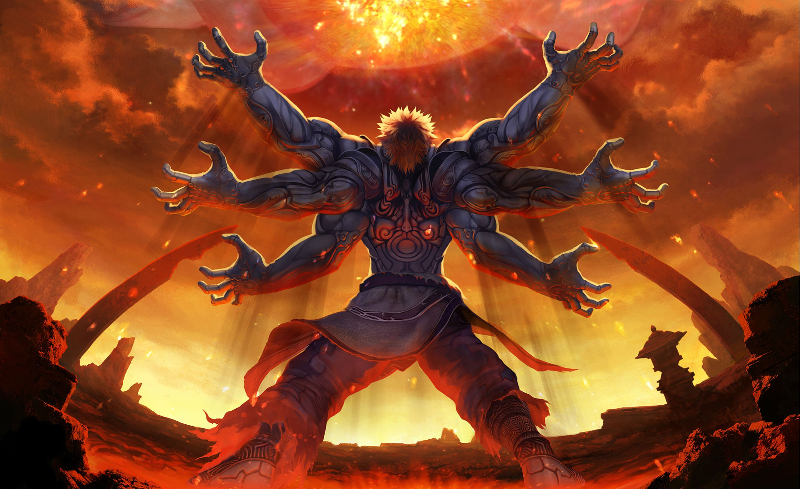 14 Asuras Wrath HD Wallpapers Background Images 2560x1565