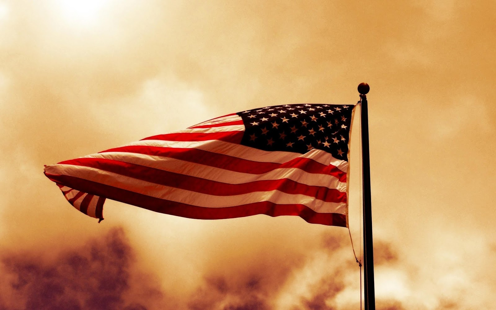american flag with sunset hd wallpaper american flag hd wallpaper old 1600x1000