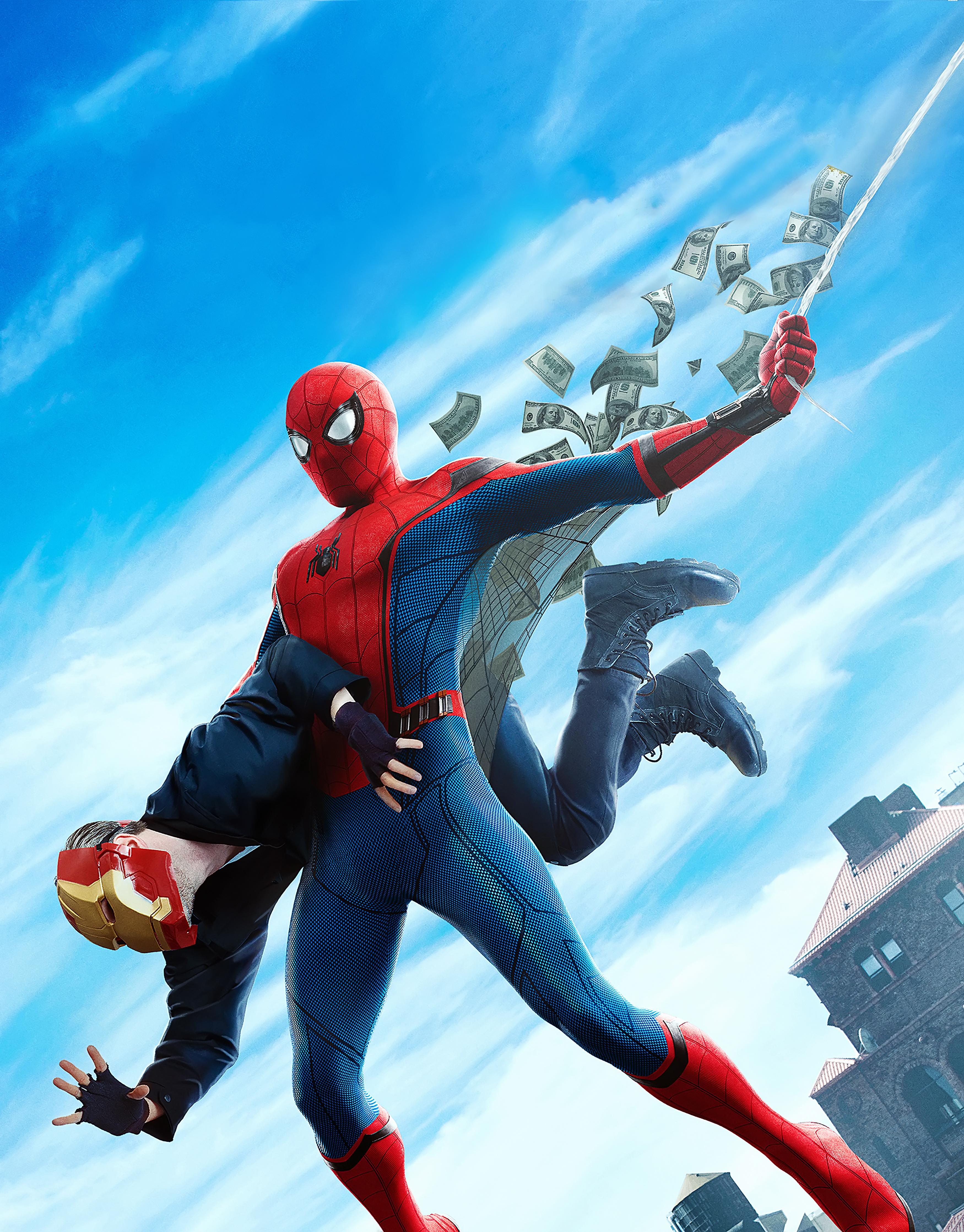 Wallpapers Spider Man Homecoming Heroes comics Spiderman 3500x4475 3500x4475
