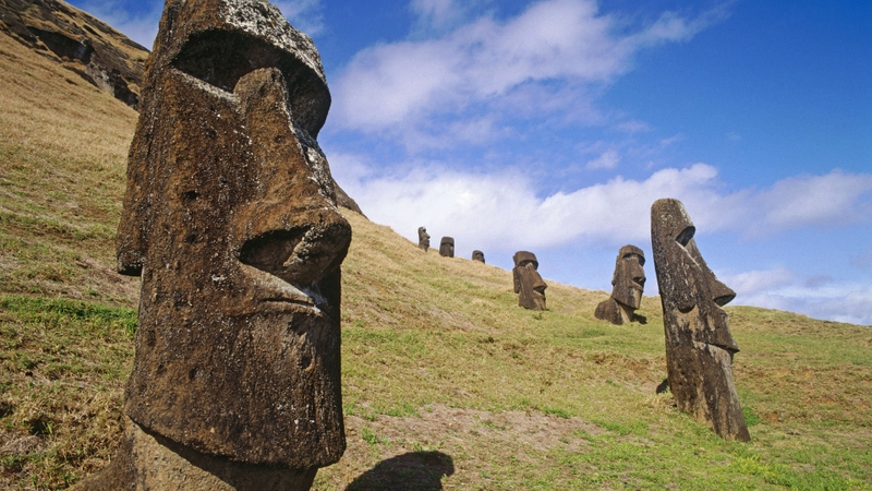 easter island moai quarry 1920x1080 wallpaper Easter Wallpaper 800x450