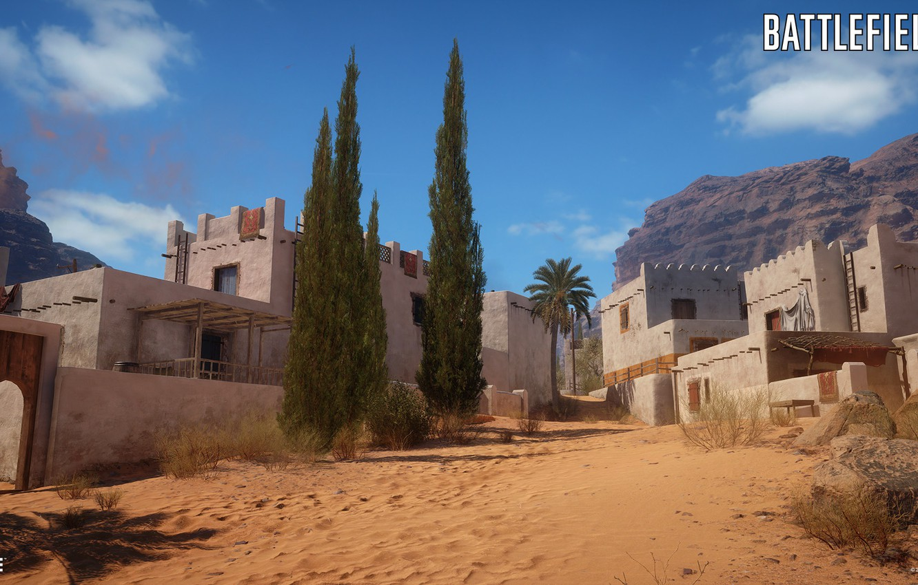 Wallpaper mountains home settlement Battlefield 1 Sinai Desert 1332x850