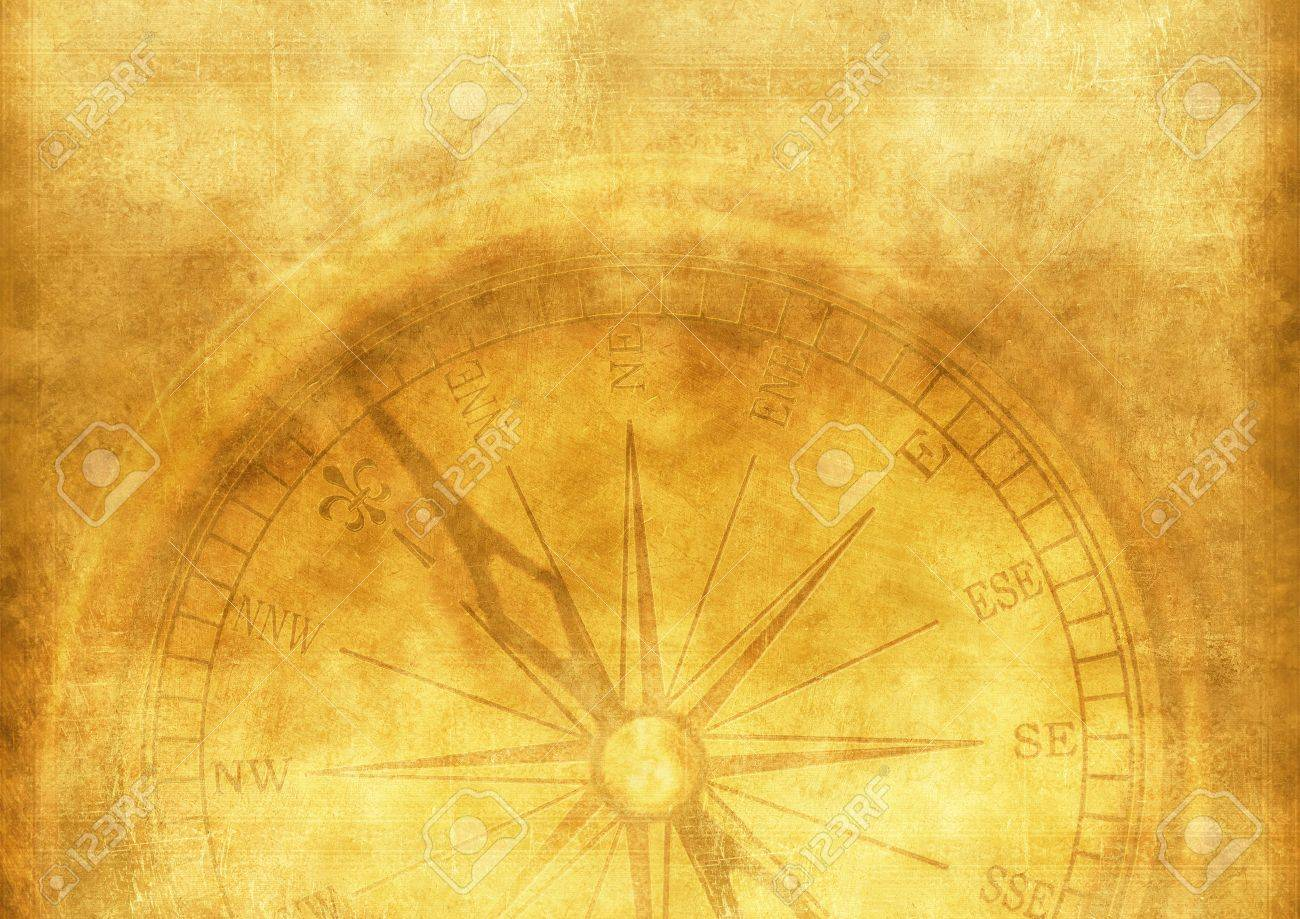 Vintage Adventure Background With Vintage Compass Aged Paper 1300x919