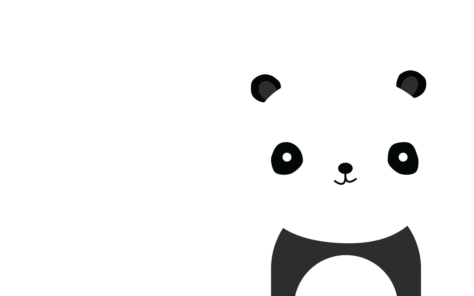 Cute panda wallpaper 1600x1000