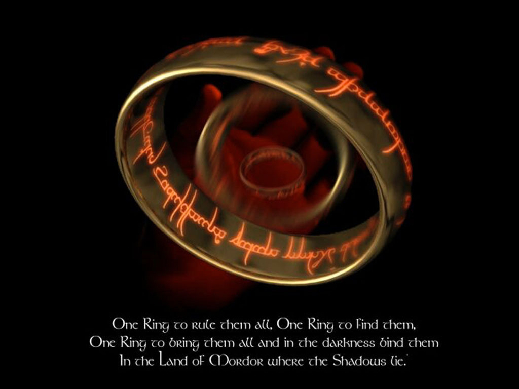 Free Download The One Ring Lord Of The Rings Wallpaper