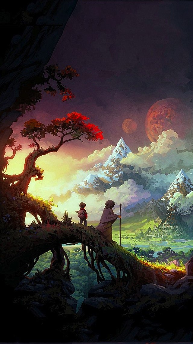 Anime Wallpaper iPhone  WallpaperSafari