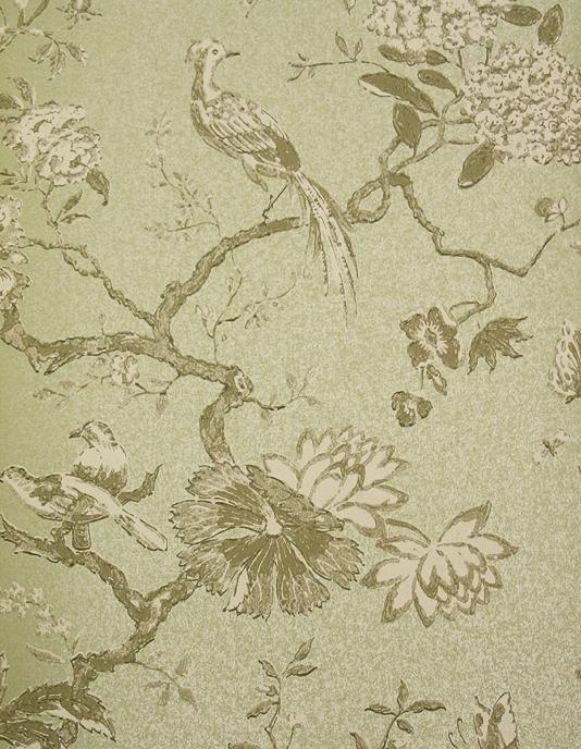 Oriental Bird Wallpaper Beautiful bird and branch design wallpaper in 534x688