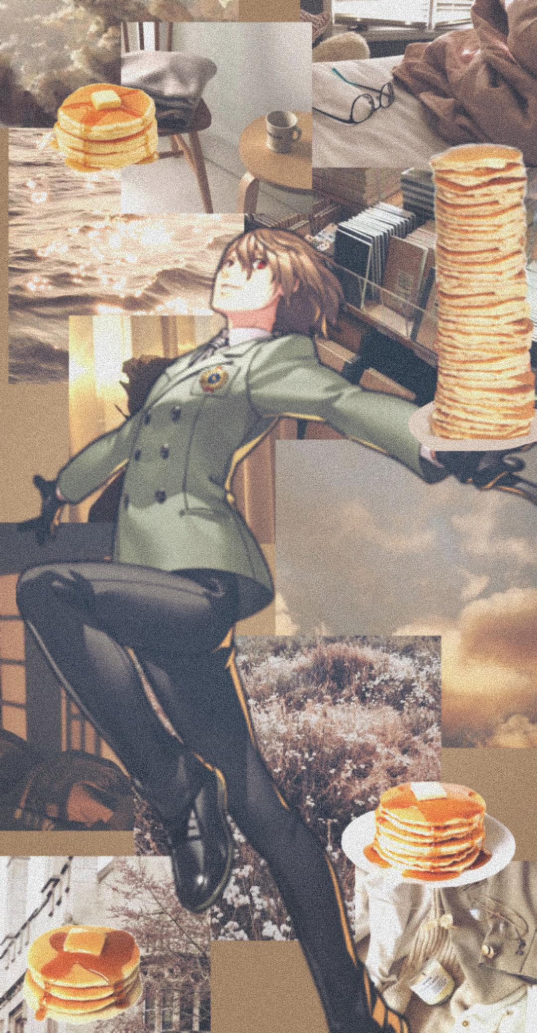 Goro Akechi Pancakes wallpaper Persona5 1080x2076