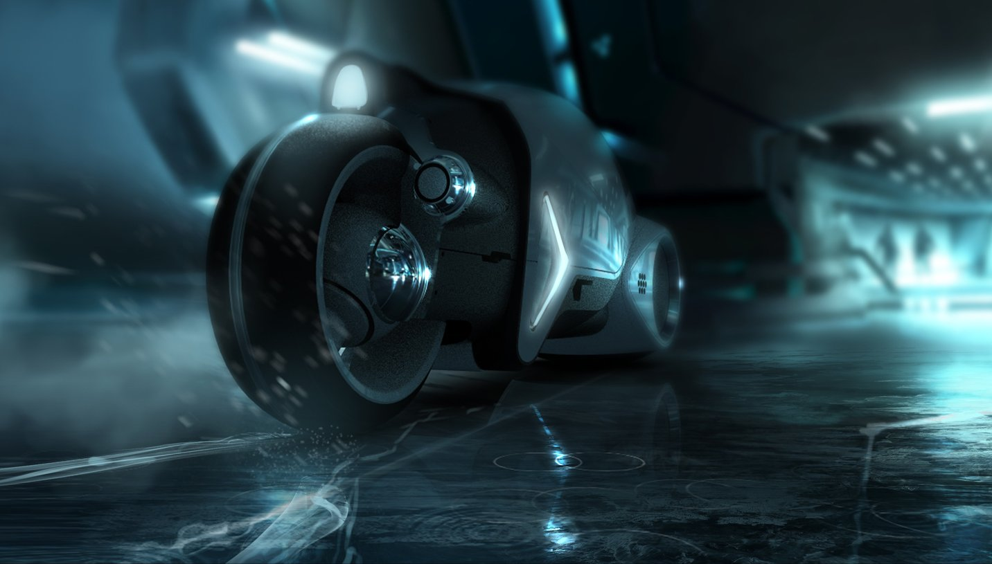 Free Download Super Punch Tron Legacy Lightcycle Desktop Wallpaper