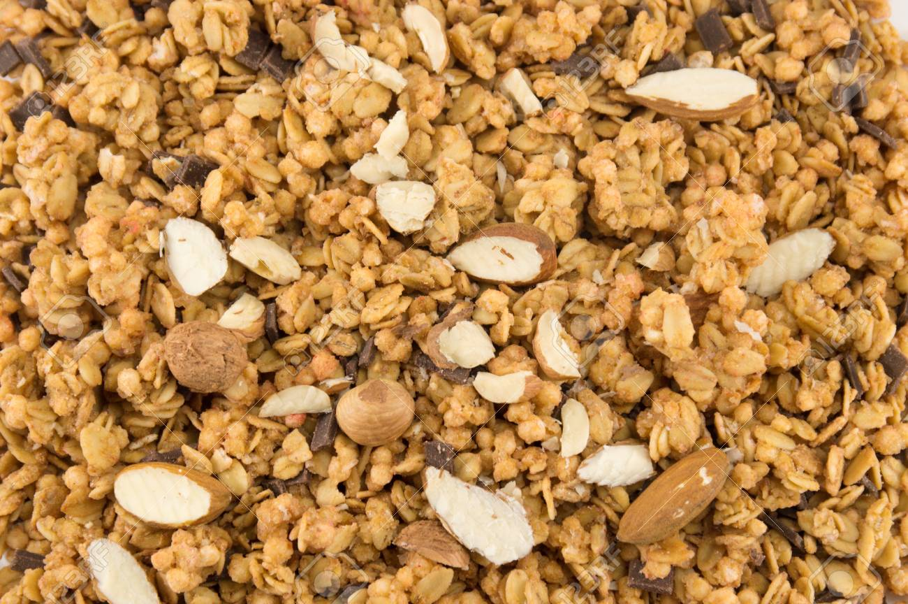 Granola Muesli Cereals With Dried Fruit Background Stock Photo 1300x864
