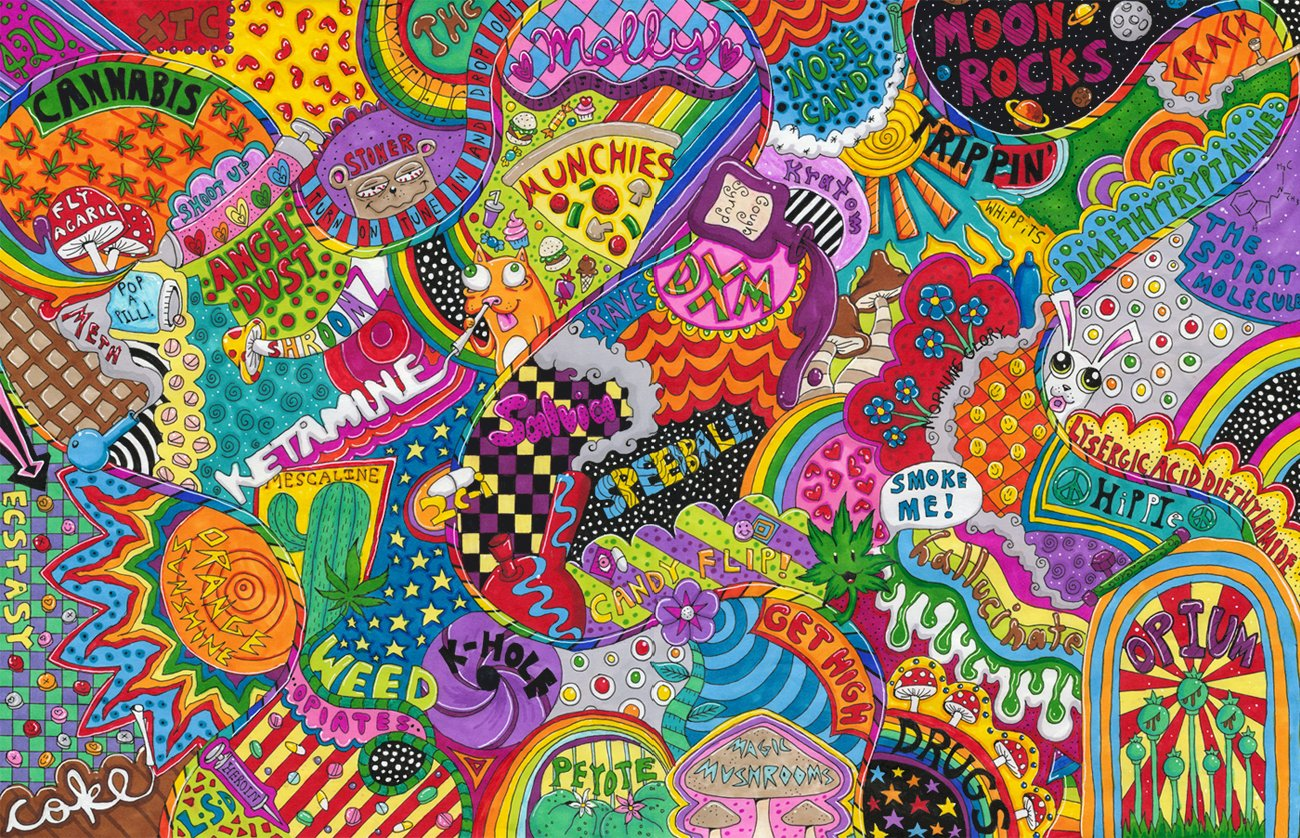 Trippy Drug Wallpapers - WallpaperSafari