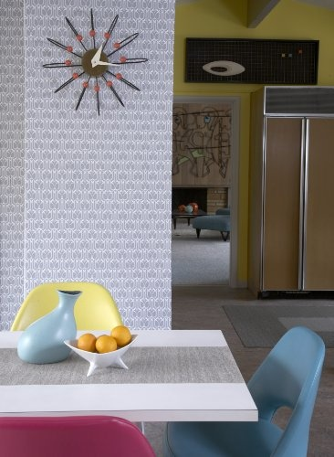 Adhesive Temporary Wallpaper Silver Cheap Apartment Decorating 366x500