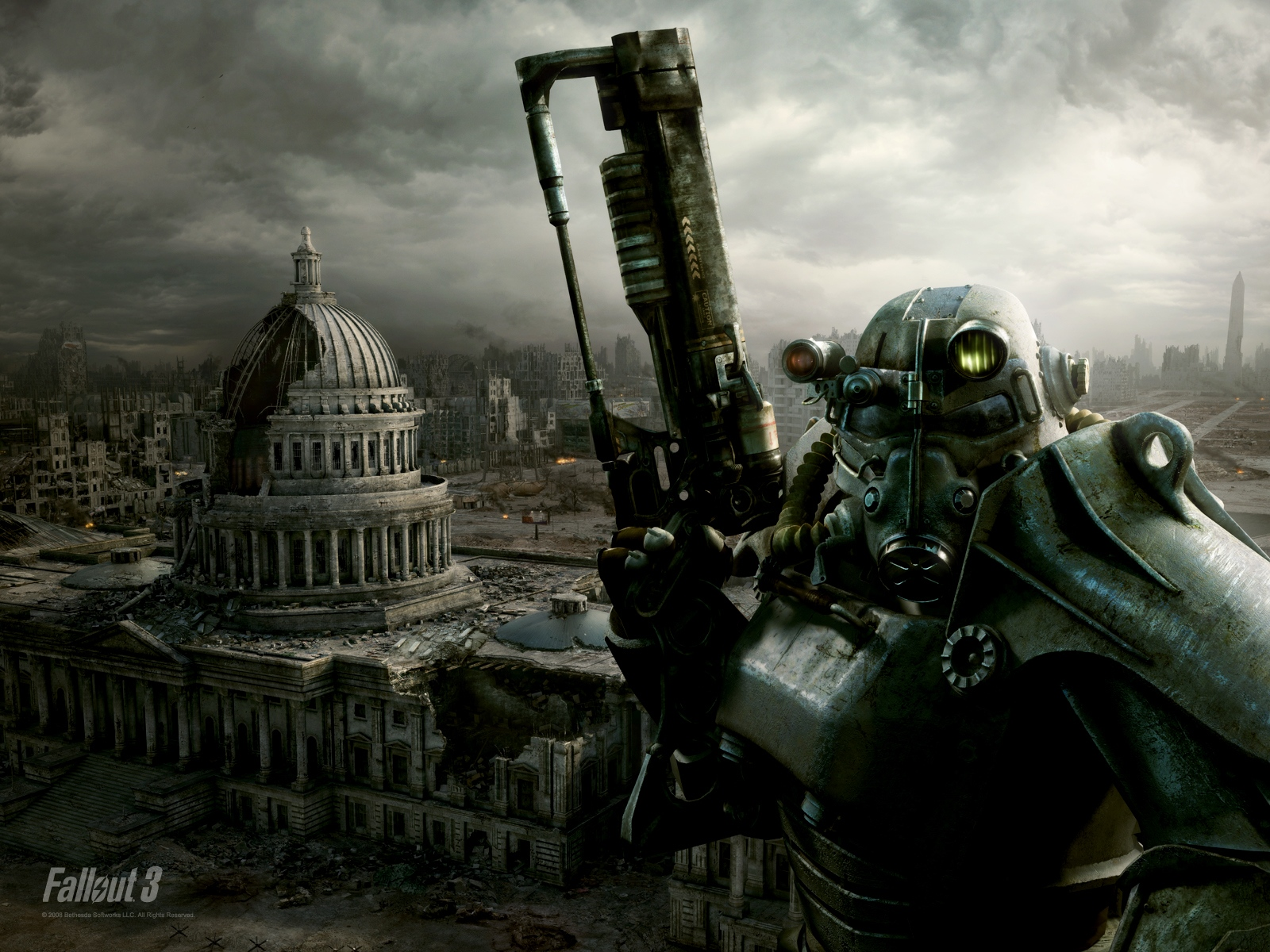 Fallout 3 Brotherhood of Steel HD Wallpapers DVD CoverImage to 1600x1200