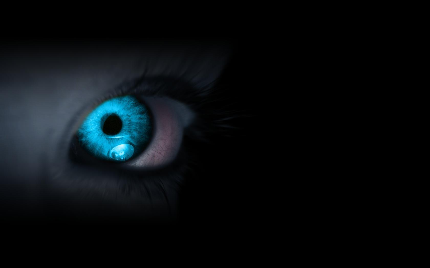 Hd Abstract Blue Eye Desktop Wallpaper Wallpapers Gallery 1680x1050