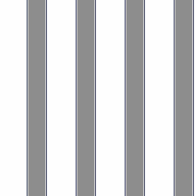 Stripes Dark Gray Navy on White 175 inch Awning Stripe Wallpaper 800x800