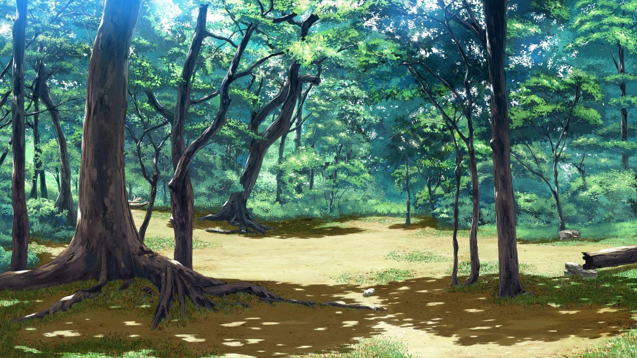 Anime Forest Backgrounds 2048x1152