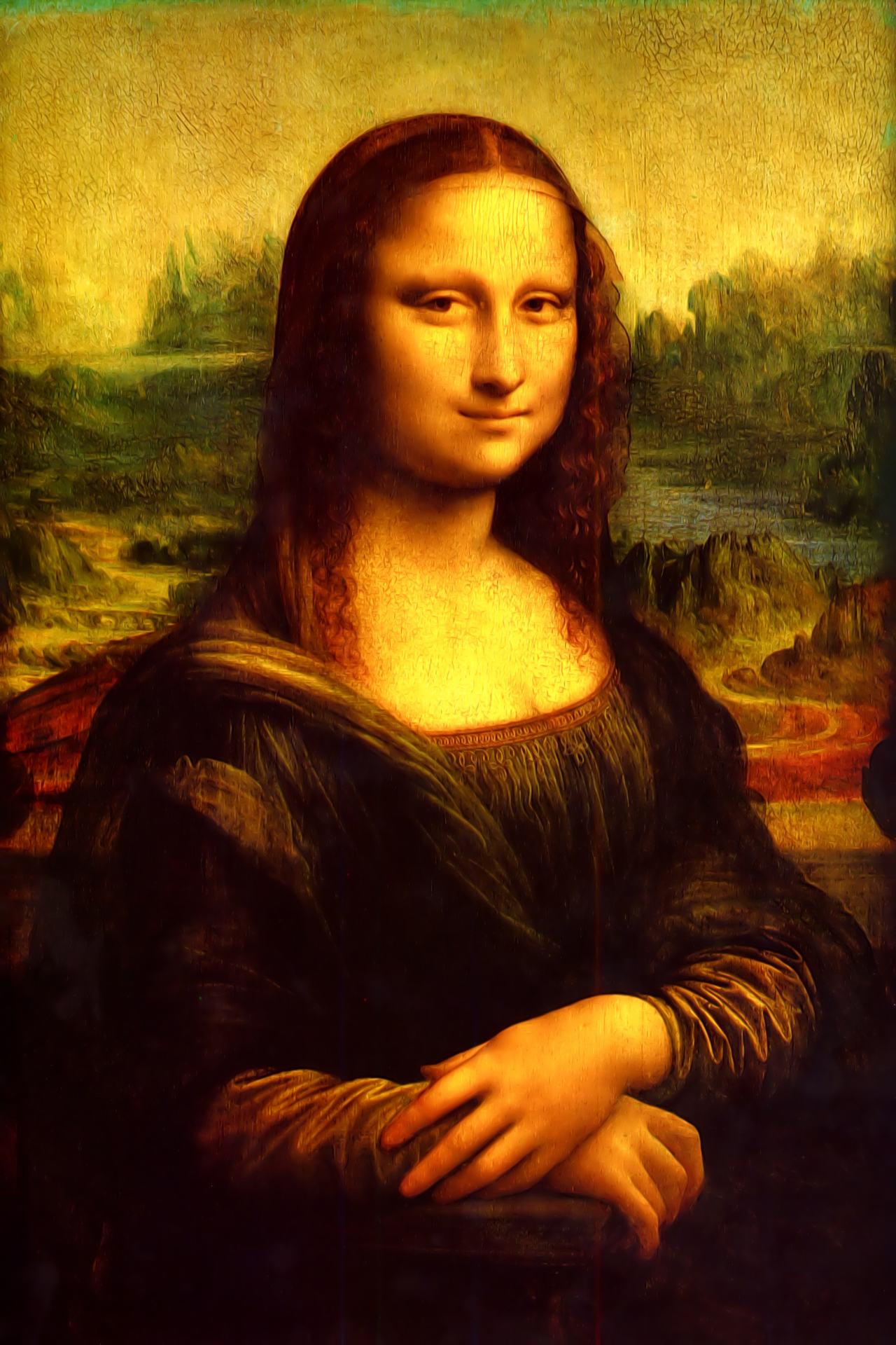 Mona Lisa hd Wallpaper 1280x1920