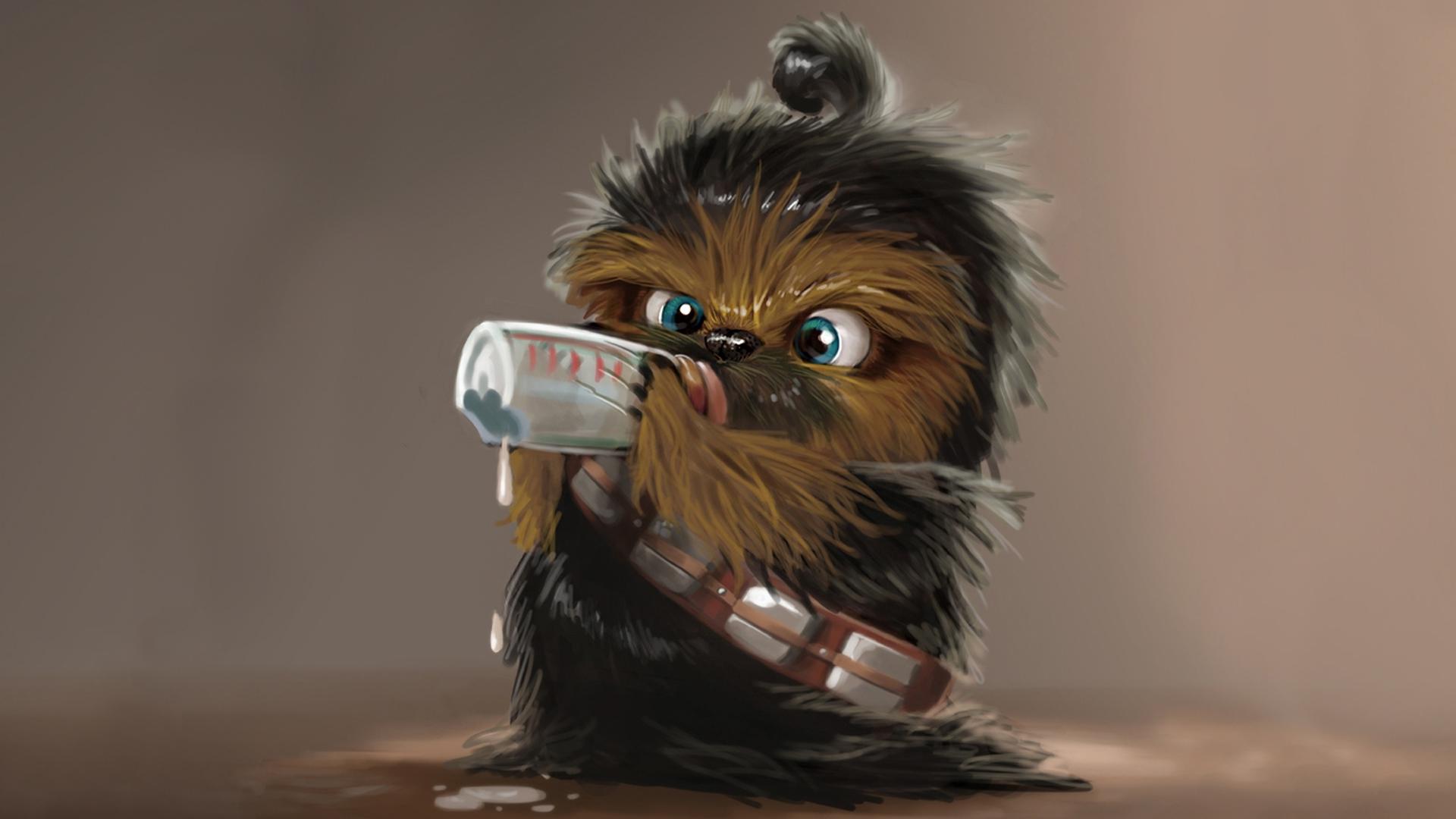 Star wars chewbacca baby Wallpapers HD 1920x1080