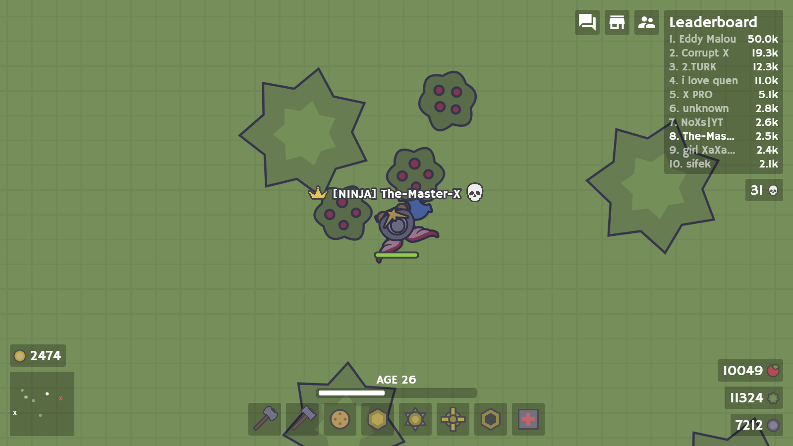 A moomooio score with a great build I havent played in a while 1600x900