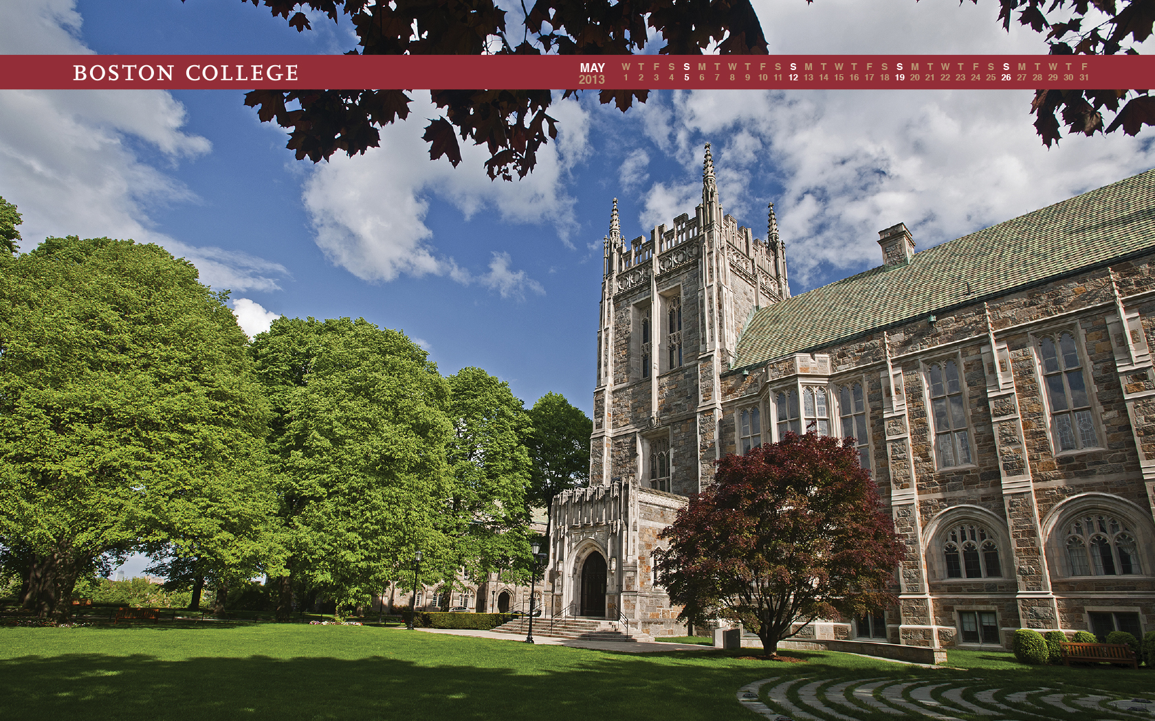 Boston College Campus Wallpaper Calendar wallpaper archive 1680x1050